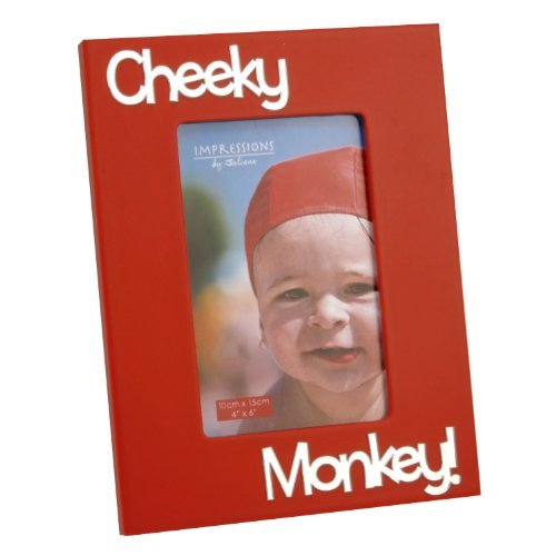 Boys Photo Mirror Frame With 3D Letters cheeky monkey by Juliana Collection