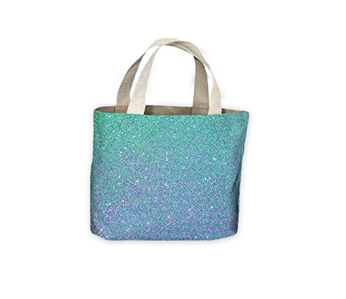 For Bag Blue Effect Shiny Life Shopping Glitter Tote Shiny Glitter Rqw8pxCw0