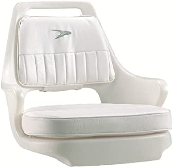 White Wise 8WD013-3-710 Standard Pilot Chair with Cushions and Mounting Plate