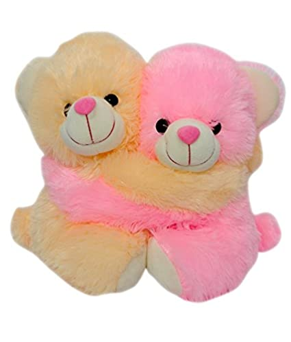 f7592beb6f Buy Saugat Traders Love Gifts Soft Toys Couple Teddy Bear 30 Cm - Beige And  Pink Online at Low Prices in India - Amazon.in