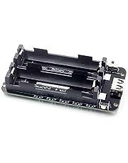 GeKLok Tvåvägs 18650 litiumbatteri expansionskort, micro USB 3 V 5 V tvåspänning mobil kraftmodul batterisköld för ESP32, justerbar för olika batterier (som visas)