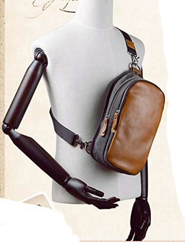Brown Retro Shoulder Casual Package Laidaye Canvas Chest Business Bag O7xqww85gp
