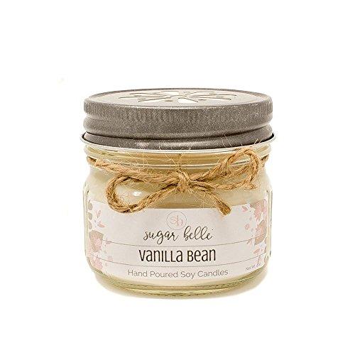 Vanilla Bean 4 oz Soy Mason Jar Scented Candle