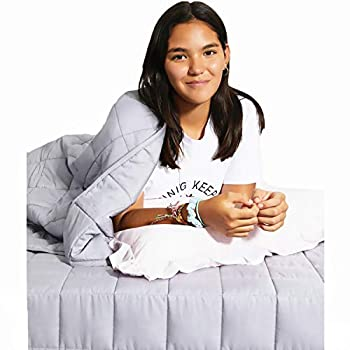 Image of PULI Cotton Weighted Blanket for Adults | 4'x4' Small Square | Better Weight Distribution | 15 Lbs | 48'x72' | for Individual Between 140-180 lbs | Full Size Bed| Marble Grey PULI B07XJXZV5X Weighted Blankets
