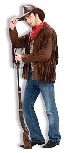 Forum Novelties Men's Buffalo Bill Fringed Costume Jacket, Brown, -