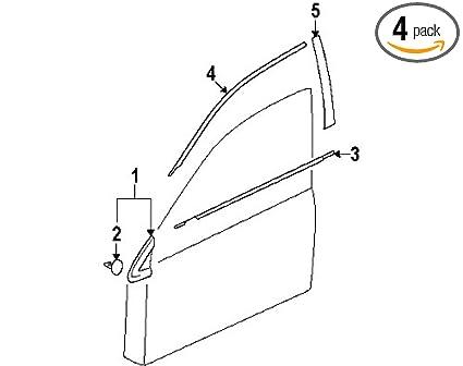 Amazon com: Mitsubishi DOOR BELT WINDOW MOLDING 4 Piece SET Black