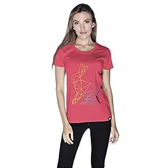 Creo Bunny Animal T-Shirt For Women - M, Pink