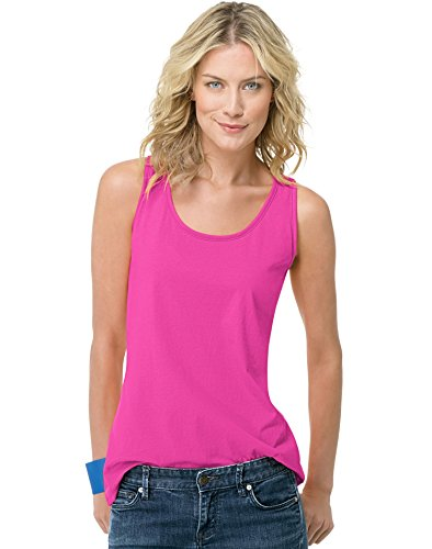 Hanes Women's Tank Top, Amaranth, X Large (Tank Top Love Womens)