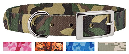 Country Brook Design Woodland Camo Traditional Dog Collar - - Oak Center Brook