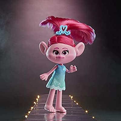 DREAMWORKS TROLLS Stylin' Poppy Fashion Doll with Removable Dress and Hair Accessory, Inspired by Trolls World Tour, Girls 4 Years and Up: Toys & Games