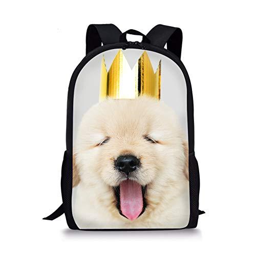- Cute Golden Retriever Bookbags Boys Girls School Backpack Lightweight Durable Teen Travel Daypack