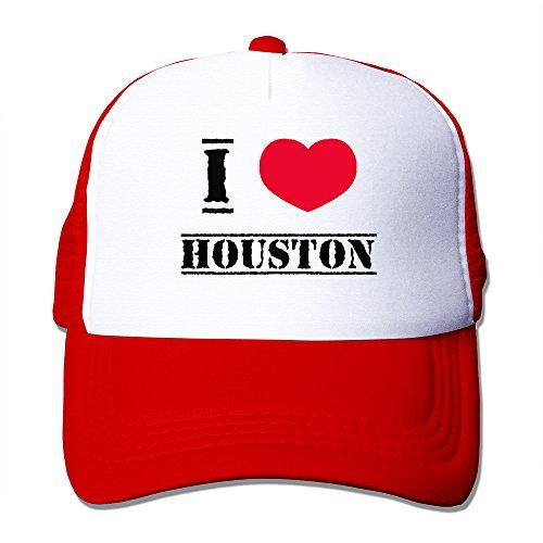 I Love Houston Mesh Back Baseball Hat Trucker - Houston Mural Rockets