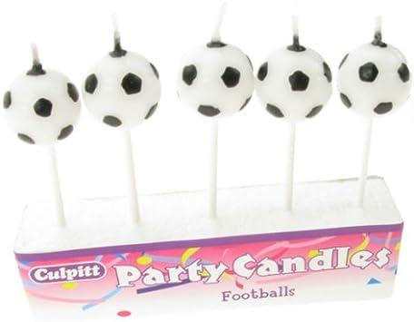MusiCandle Velas - Balones de Fútbol Pack con 5: Amazon.es ...