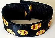 Sleeve Scrunchies Softball Black