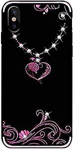 Luxury Rhinestone Soft TPU Phone Case Cover for Apple iPhone X - Pink