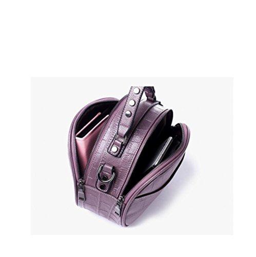 Occasionnel Sac PU Purple à Sac Rond à Womens Sac à Bandoulière Sac DHFUD Main Bandoulière P6w5qF7Ax