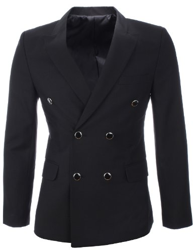 FLATSEVEN Double Breasted Blazer Jacket