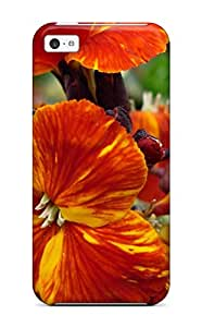 Slim Fit Tpu Protector Shock Absorbent Bumper Flower Case For Iphone 5c