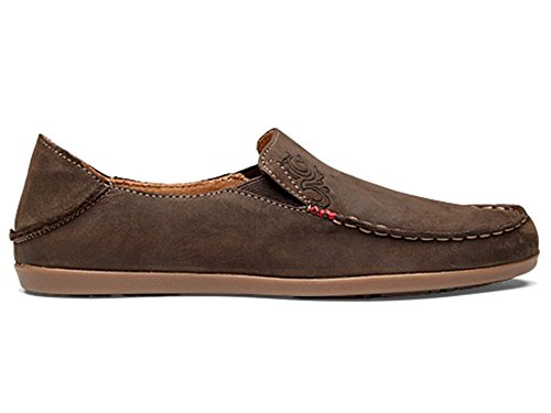 OLUKAI Nohea Nubuck Shoe - Women's Dark Java/Tan 8