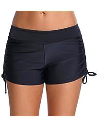 Imilan Women's Bikini Bottom Board shorts Swimming Fitness Sportswear