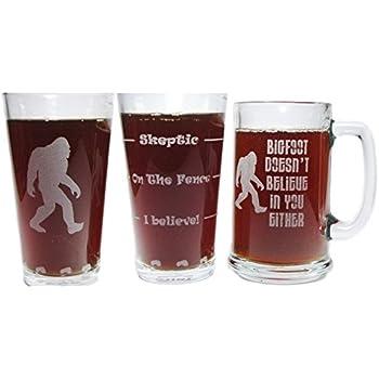 amazon com bigfoot sasquatch drink till you believe engraved