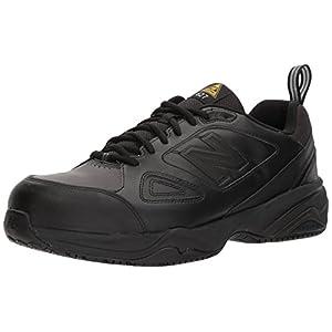 New Balance Men's 627v2 Work Training Shoe, Black/Black, 13 2E US