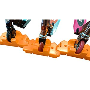 50 Strong Scooter Stand - Fits Most Scooters - Interlocking Offset Extra Stable Base - Orange