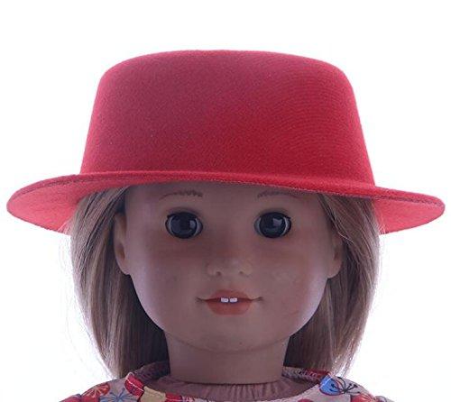 [해외]Dalino Exquisite Decoration 18 inch Lovely Girl Doll Fashion Hat (Red) / Dalino Exquisite Decoration 18 inch Lovely Girl Doll Fashion Hat (Red)