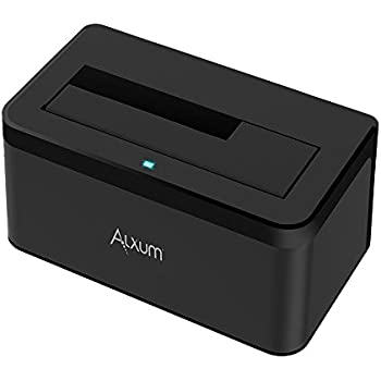 Alxum USB 3.0 To SATA Single Bay Hard Drive Docking Station With 12V/2A Power Supply For 2.5/3.5 Inch SATA I/II/III HDD SSD,Support 6TB/8TB
