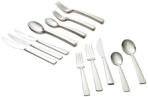 Ginkgo International Burton 20-Piece Stainless Steel Flatware Place Setting, Service for 4