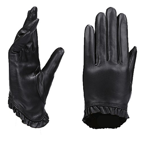 MoDA Women's Ms. Toulouse Genuine Leather Fully Lined Winter Gloves