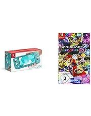 Nintendo Switch Lite, Standard, türkis-blau + Mario Kart 8 Deluxe [Nintendo Switch]