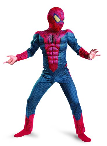 The Amazing Spider-man Movie Muscle Costume, Red/Blue, Small (Spiderman Costume Movie)