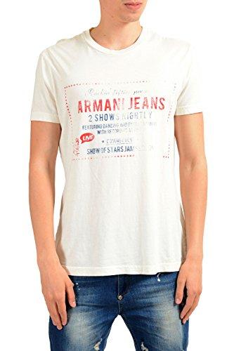 ARMANI JEANS AJ Men's Graphic Short Sleeve Crewneck T-Shirt Size US 2XL IT - Jeans Shirt Short Armani Sleeve