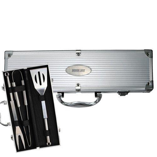 John Jay College Grill Master 3pc BBQ Set 'John Jay Engraved'