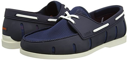 SWIMS Men's Boat Loafers, Navy/White, 7 D(M) US by SWIMS (Image #5)