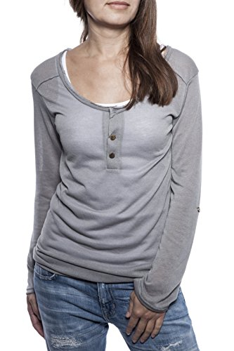 Serafino Manue Ella Women Longsleeve Grigio Shirt Lina Argentato wvt6aS6qzn
