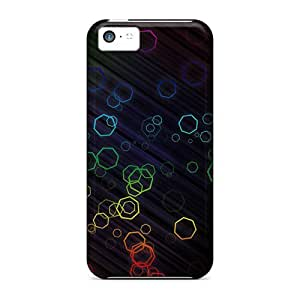 Day Life Abstract Heptagons Durable Iphone 5c Tpu Flexible Soft Case