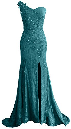 MACloth Gorgeous One Shoulder Long Prom Dress Mermaid Lace Formal Evening Gown Oasis