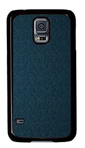 Blue texture background PC Case Cover for Samsung S5 and Samsung Galaxy S5 Black