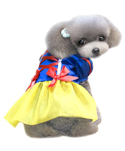 M2cbridge Dog Snow White Costume Pet Fancy Dress (XXL)