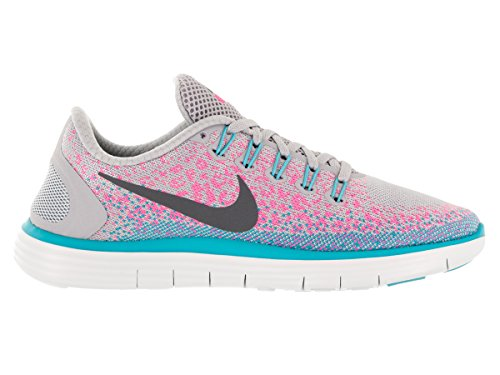 Nike Womens Free Rn Distance Lupo Grigio / Grigio Scuro / Rosa Blast Running Shoe (7.5)