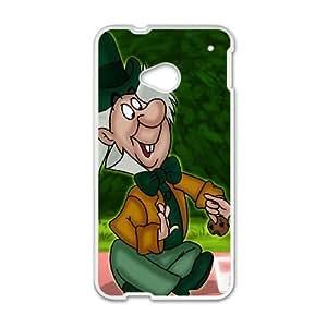 HTC One M7 Phone Case White Alice in Wonderland Mad Hatter YU9407548