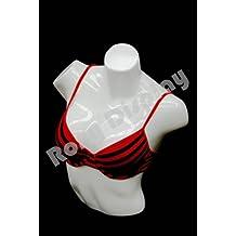 (PS-L-11WH) ROXYDISPLAY™ Female full round plastic mannequin torso