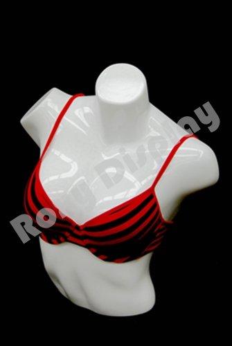 (PS-L-11WH) ROXYDISPLAYTM Female full round plastic mannequin - Mannequin Full Round