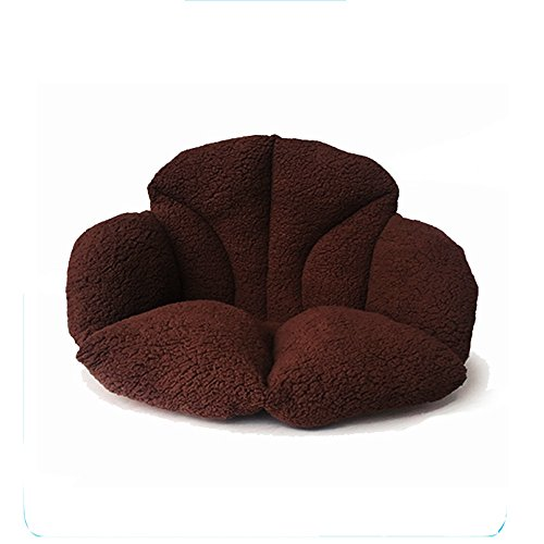 Aommos High Back Plush Beautiful Seat Cushion Pads for Back Pain Relief,Sciatica and Tailbone Pain - Ideal for Office Chair, Car Driver,Kitchen,Sofa (COFE(Back up))