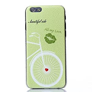 JOE Love Bike Pattern Plastic Hard Cover for iPhone 6