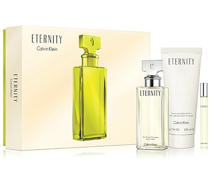 Eternity Body Lotion - ETERNITY Gift Set for WOMEN - 3.4 oz. EDP Spray + 6.7 oz. Body Lotion + 0.33 oz. Roller Ball - OR EMAIL FOR ANY OTHER PERFUMES - 100% AUTHENTIC & ORIGINAL - No Exceptions