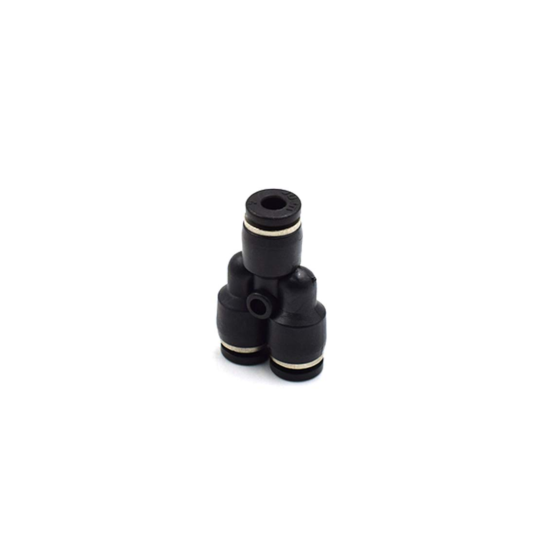 OD Push to Connect Air Fittings Push to Connect Fittings Tube Connect Y Splitter Plastck Black LICTOP 5//32 inch 5 Pack 4mm
