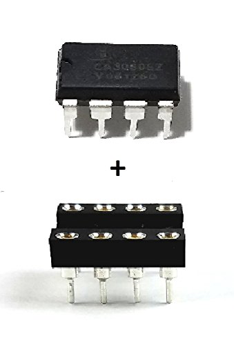 (Intersil CA3080EZ High-Performance Operational Transconductance Amplifiers IC & 8-Pin DIP Sockets with Machined Contact Pins (Pack of 5) )